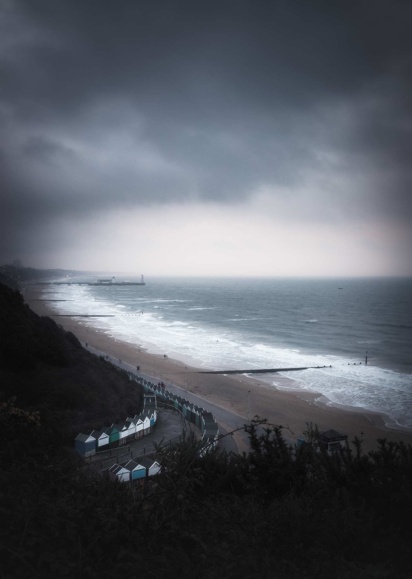 Bournemouth Beach - Stormy Morning