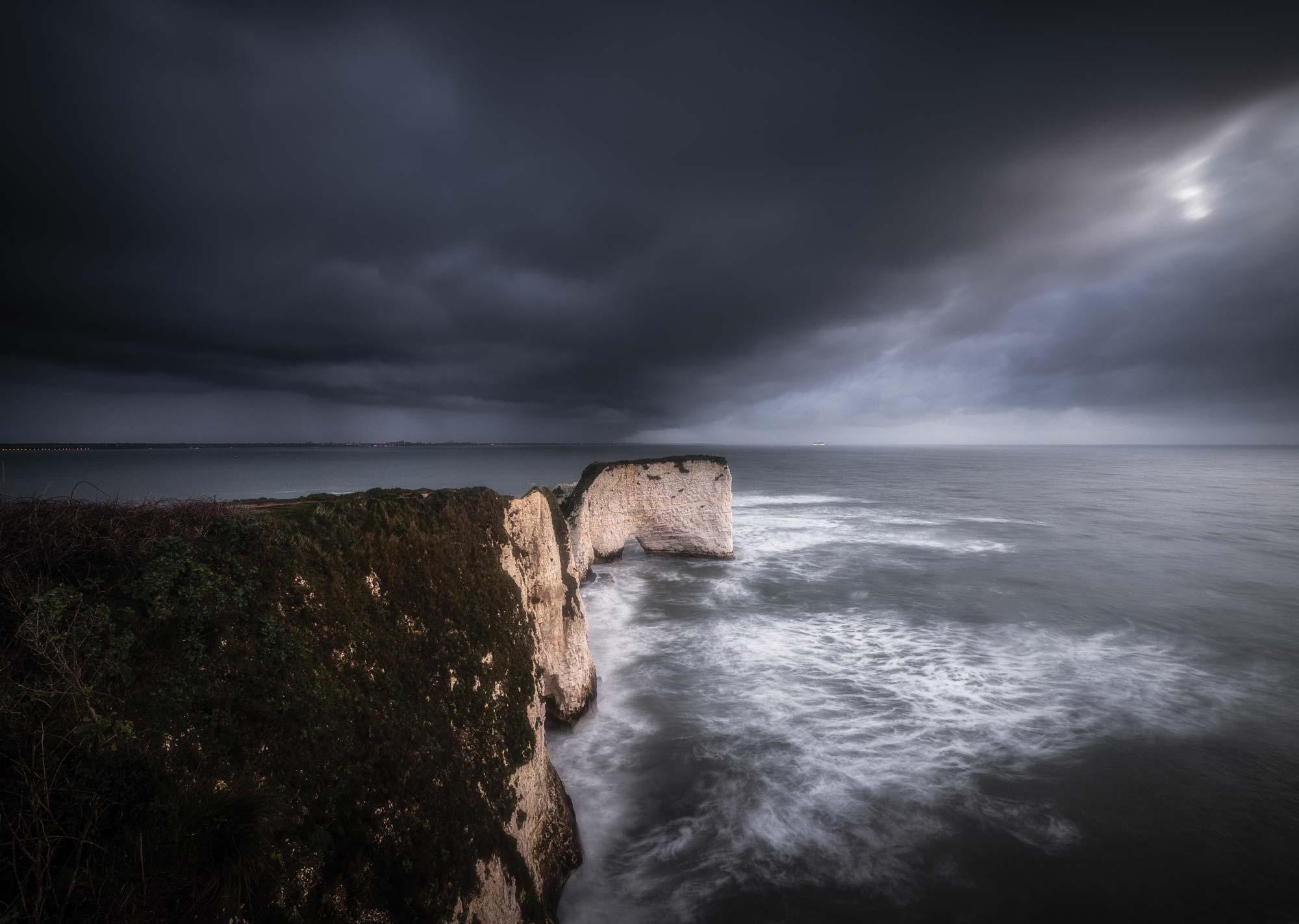 Old Harry Rocks   Stormy Sunrise