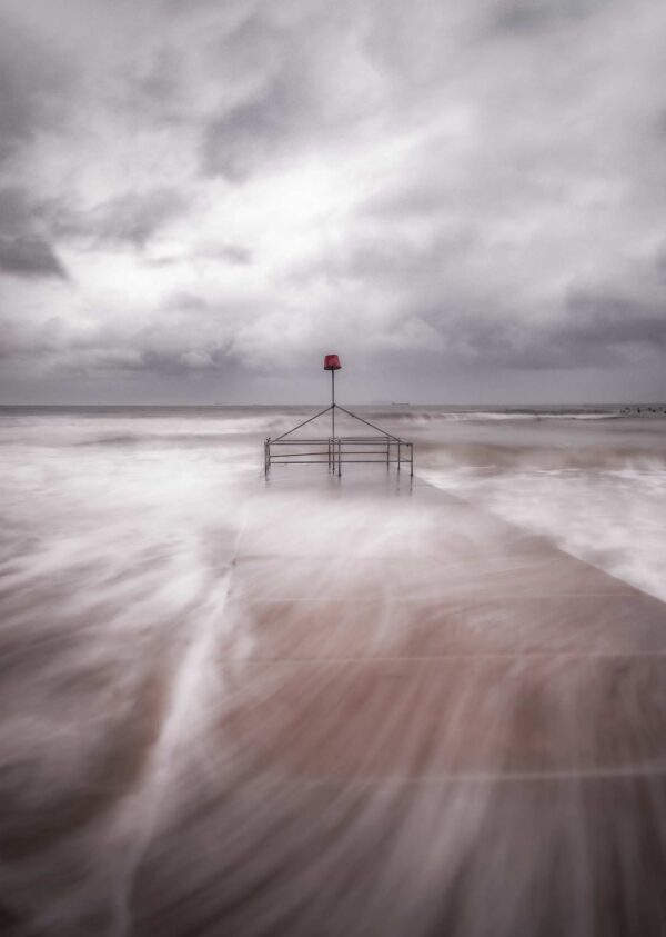 Bournemouth Beach   Stormy 2020